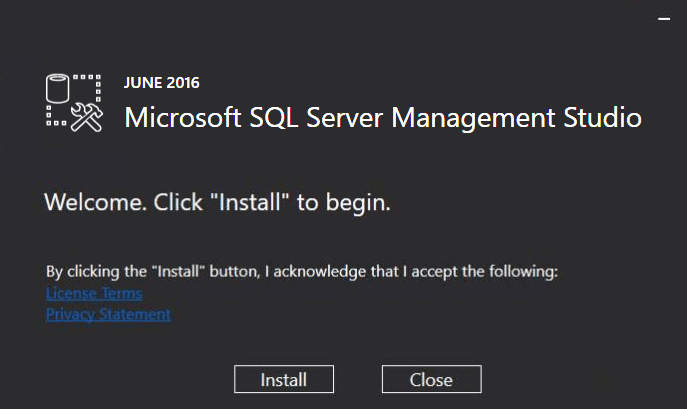 Microsoft SQL Server Management Studio in SQL Server 2016