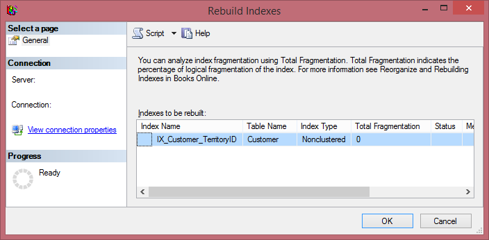 Rebuild Index in SQL Server Using SSMS