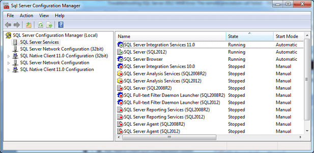 SQL Server Service Opens up in SQL Server Configuation Manager