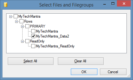 FILE Backup in SQL Server Step by Step Tutorial with Examples