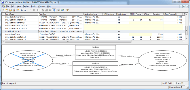 Capture Deadlock Using SQL Server Profiler Deadlock Graph Event