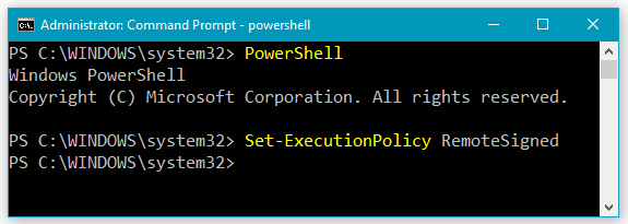 How to Change PowerShell Execution Policy Setting to RemoteSigned