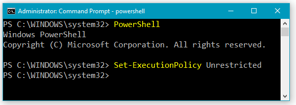 How to Change PowerShell Execution Policy Setting to Unrestricted
