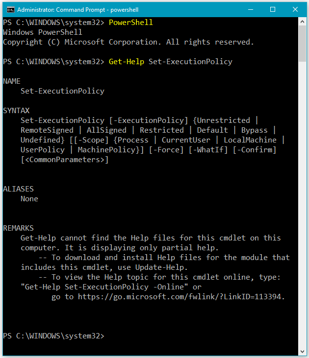 How to Get PowerShell cmdlet Syntax Help to understand information about PowerShell Syntax and Acceptable Parameters