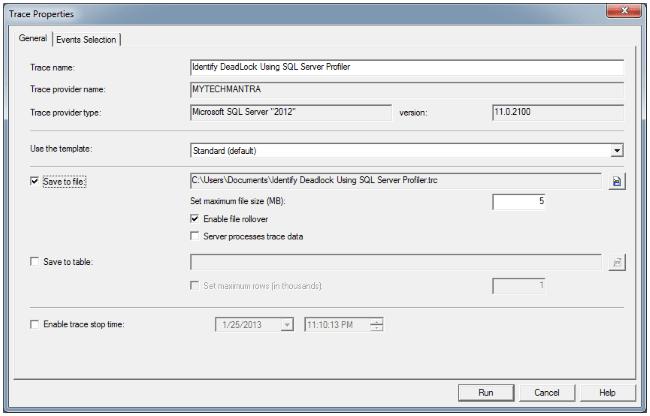 Identify Deadlock Using SQL Server Profiler