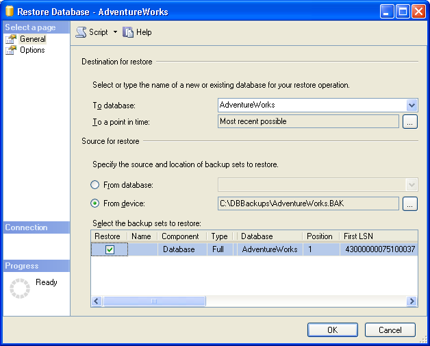 How to Restore Database Using SQL Server Management Studio