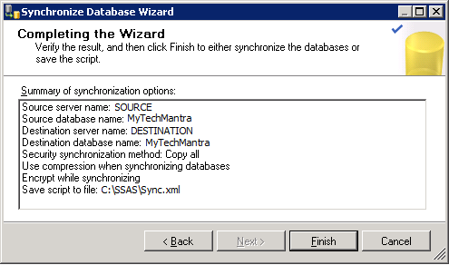 Complete Analysis Services Database Synchronization