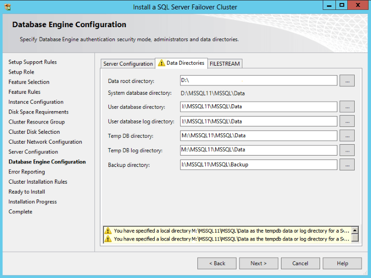 Configure TempDB on Local Disk in SQL Server 2012 Failover Cluster to Improve Performance