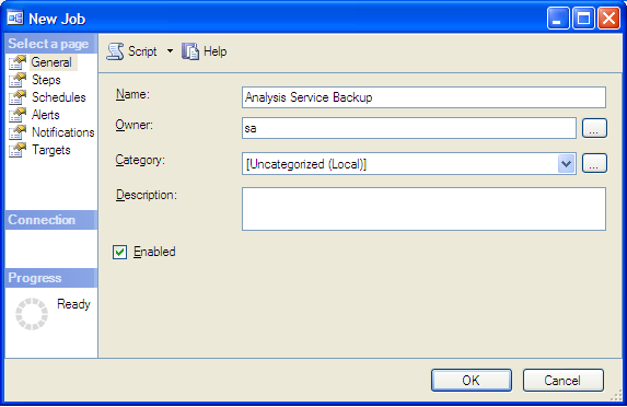 How to Automate Backup of SSAS Database Using SQL Server Agent Job