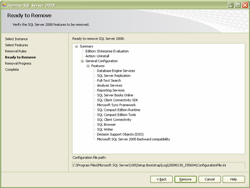 Ready to Remove SQL Server 2008 Completely