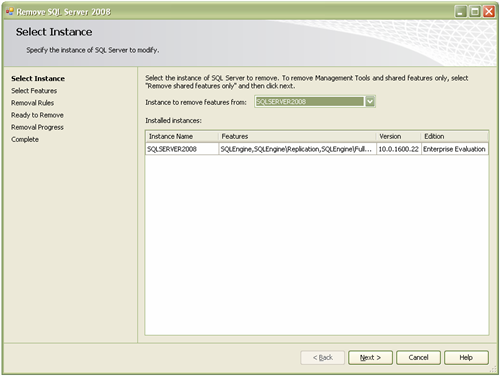 Remove SQL Server 2008 Instance How to Completely Uninstall SQL Server 2008