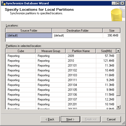 Specify Locations for Local Partitions