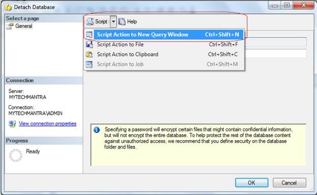 Detach SSAS Database Using SSMS