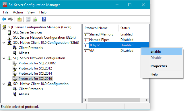How to Enable TCP/IP Network Protocol in SQL Server Configuration Manager