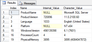 Retrieve SQL Server Information Using TSQL Code
